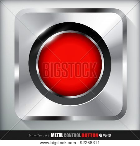 Metal Record Button