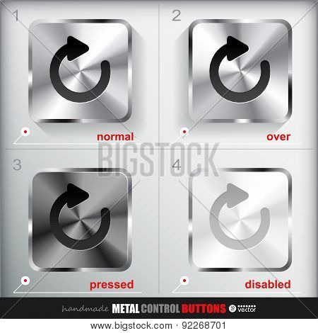 Set Of Four Positions Of Metal Reload Button.