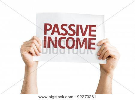 Passive Income card isolated on white
