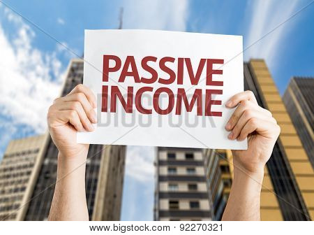 Passive Income card with corporate background