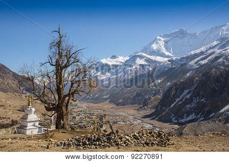 Annapurna South peack in the Nepal Himalaya