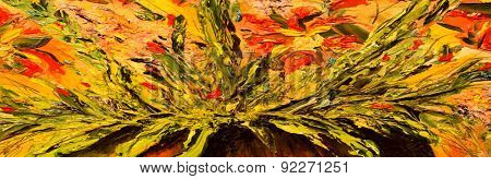 Beautiful Image of a large scale Original oil painting on canvas