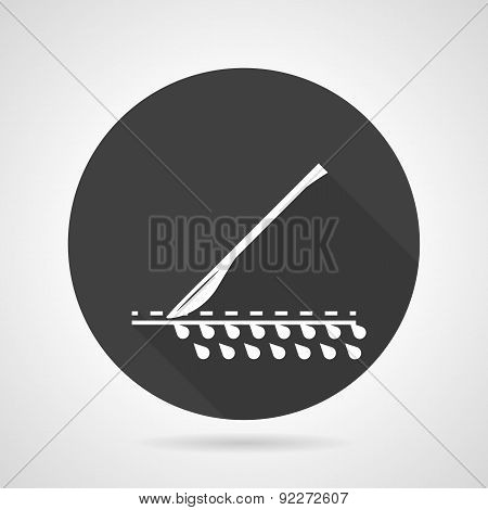 Scalpel black round vector icon