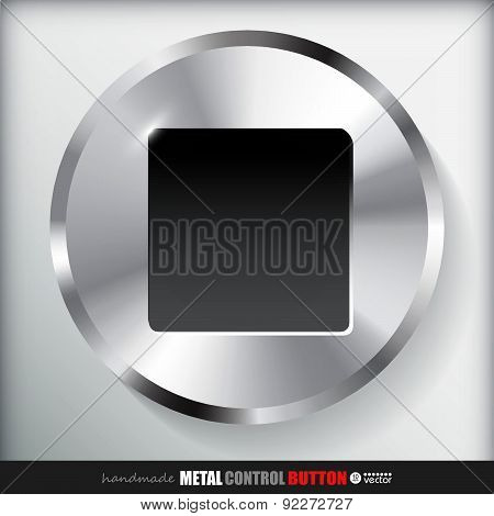 Circle Metal Stop Button