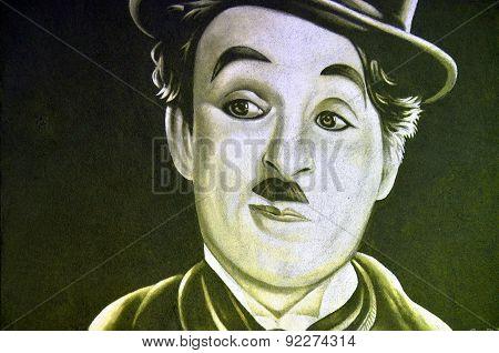 Charlie Chaplin mural