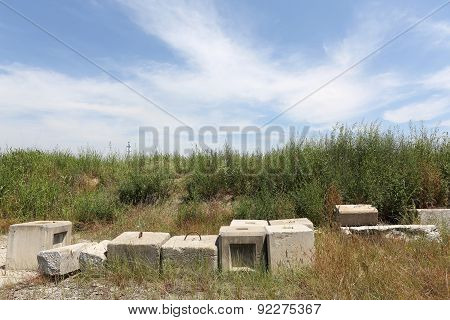 abandoned concrete brick