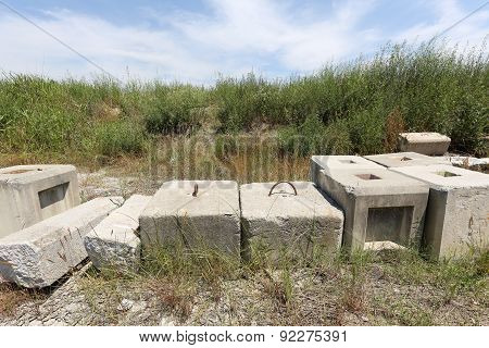abandoned of concrete brick