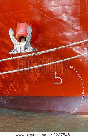 big ship, closeup