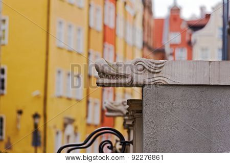 Sculptures On Mariacka Street In Gdansk,  Poland.