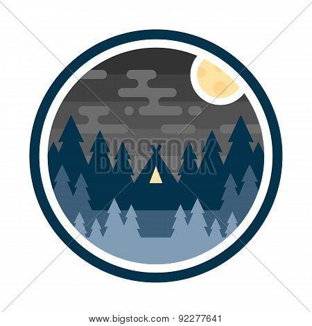 Woods Camp Night Badge