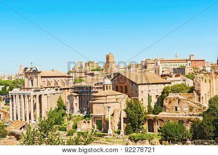 Forum Romanum In Rome Italy