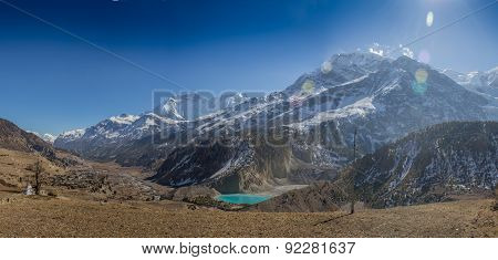 Annapurna South peack in the Nepal Himalaya