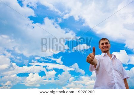 Man Giving Thumbs Up