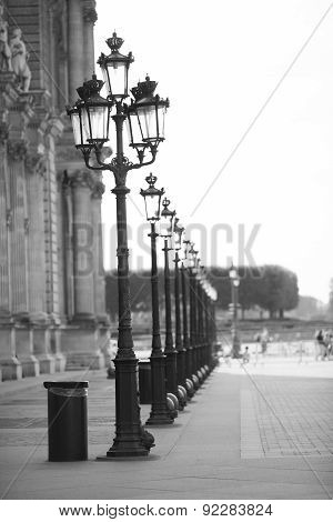 The Old Street Lamp In France