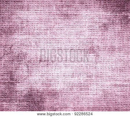 Grunge background of cotton candy burlap texture