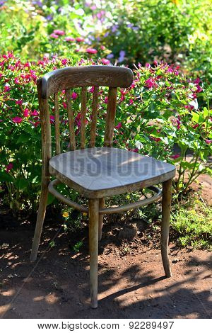 Old Chair In The Garden