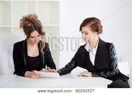 Cheerful Two Business Women