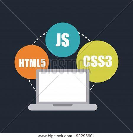 computer design over blue background vector illustration