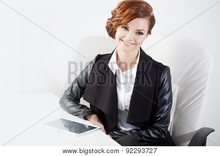 Successful Business Woman Looking Confident And Smiling, Close Up