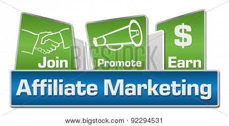 Affiliate Marketing Blue Green Rounded Squares