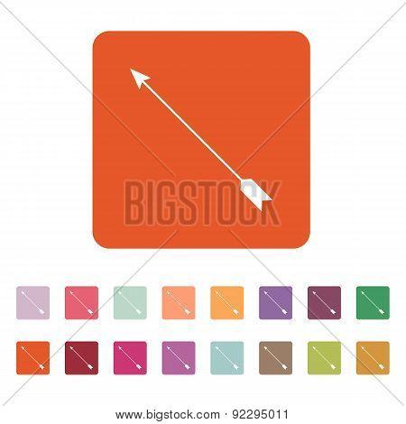 The Arrow Icon. Arrow Symbol. Flat