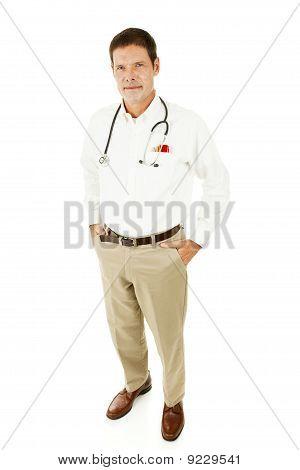 Guapo médico Casual