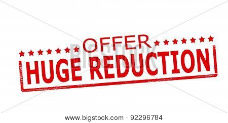 Offer huge reduction