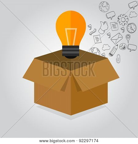 think thinking outside the box idea