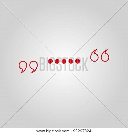 The Quote Icon. Quotation Symbol. Flat