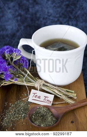 Tea Time Tag With Tea Cup
