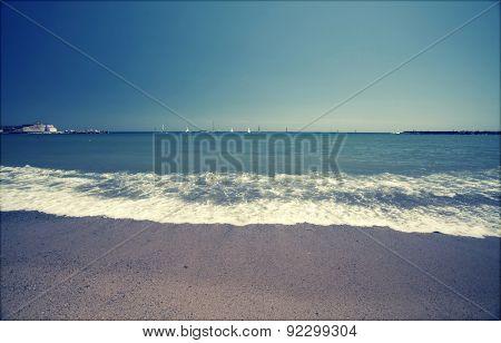 Seascape - retro styled photo