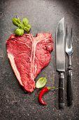 image of rib eye steak  - Raw fresh meat T - JPG