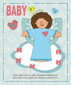 picture of blue angels  - baby card with the image of an angel on a blue background - JPG
