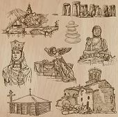 picture of freehand drawing  - RELIGIOUS around the World  - JPG