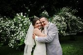 picture of married  - Wedding day of happy newlyweds and just married - JPG