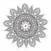 image of rangoli  - Hand drawing zentangle element - JPG