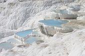 image of natural phenomena  - The Pamukkale natural lakes in Hierapolis Turkey - JPG