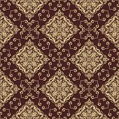 picture of damask  - Oriental vector fine texture with damask - JPG