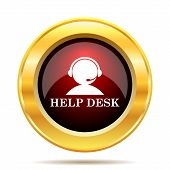 picture of helpdesk  - Helpdesk icon - JPG
