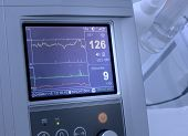foto of uterus  - Cardiograph fixing fetal heart rate and uterus contractions - JPG