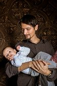 image of humility  - Dad with baby together - JPG