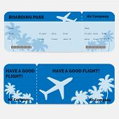 pic of boarding pass  - Airline boarding pass - JPG