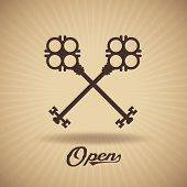 stock photo of key  - Crossed keys - JPG