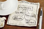 picture of goal setting  - common mistakes in setting goals  - JPG