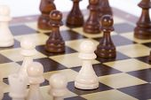 Постер, плакат: Chess Pieces On Board
