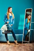 picture of denim wear  - Fashion and shopping - JPG