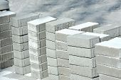 foto of paving  - Stack of paving stone on construction site - JPG