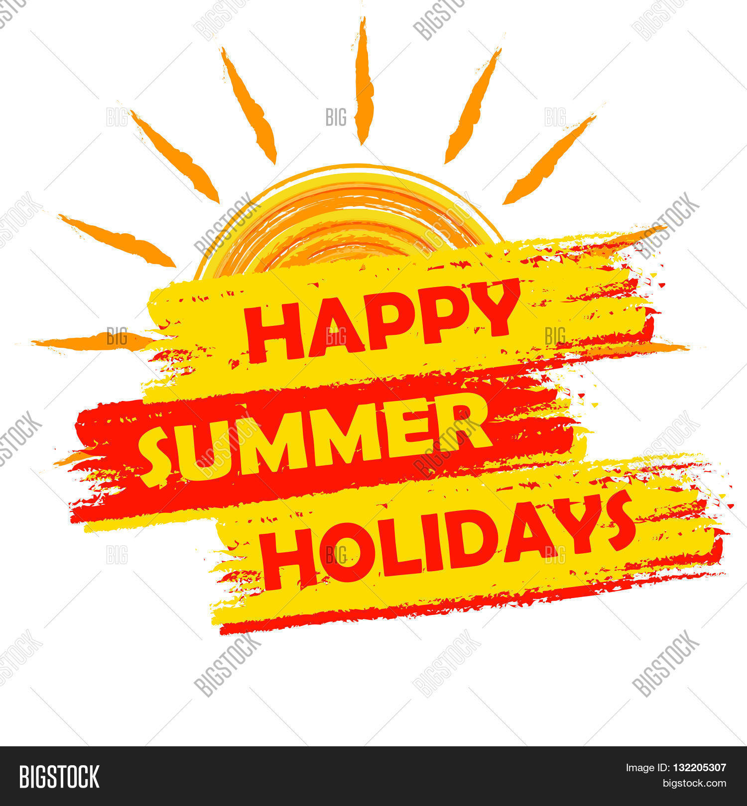 Happy Summer Holidays Banner