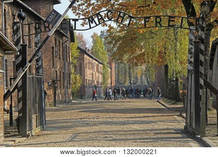 Entrance To Auschwitz I Concentration Camp