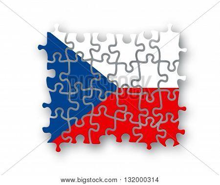 Czech Flag Jigsaw